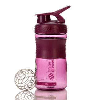 blender bottle sportmixer 600ml plum 1